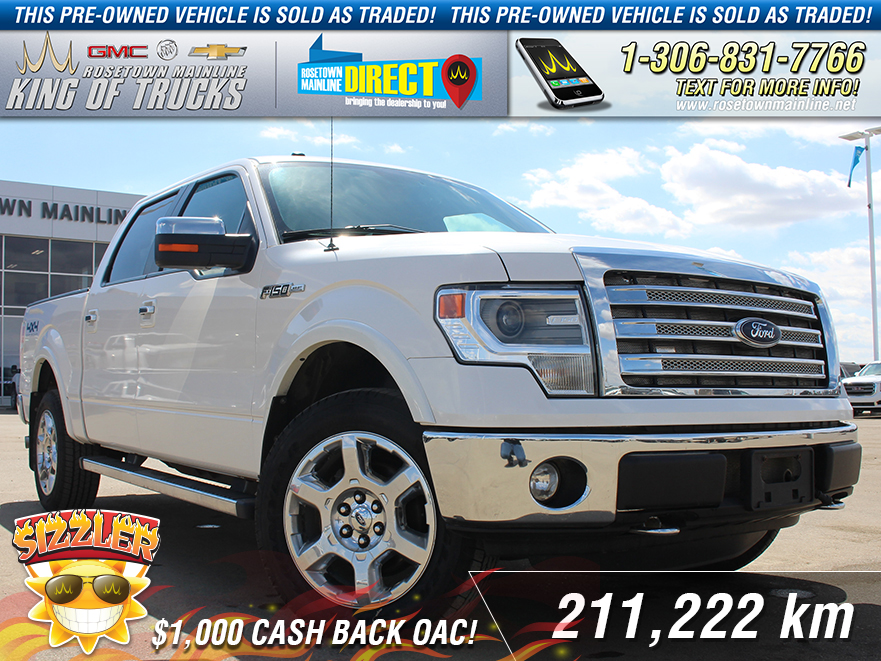 Pre-Owned 2013 Ford F-150 Lariat Leather | Sunroof | Sold As Traded