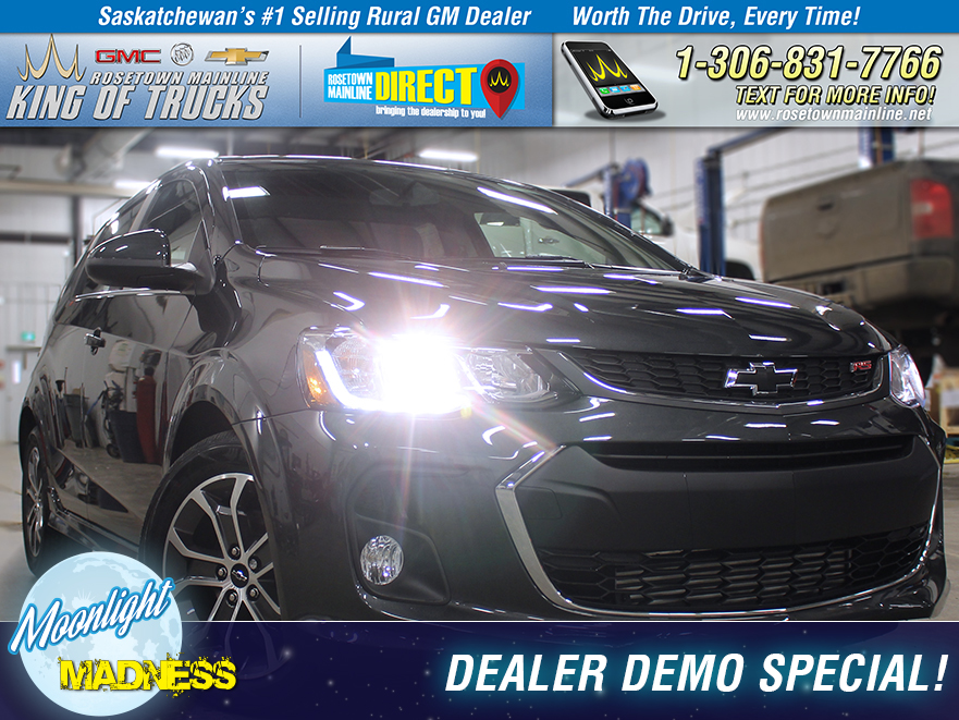 New 2018 Chevrolet Sonic LT DEALER DEMO SPECIAL!