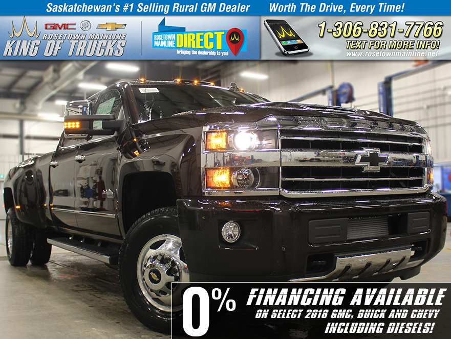 New 2018 Chevrolet Silverado 3500HD High Country With Navigation