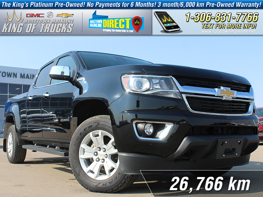 Pre-Owned 2017 Chevrolet Colorado 4WD LT 2.8L Duramax | One Owner | Low KM
