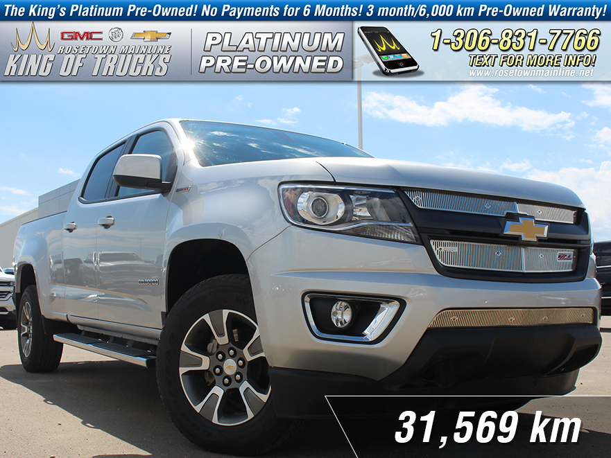 Pre-Owned 2017 Chevrolet Colorado 4WD Z71 2.8L Duramax | Leather | Low KM