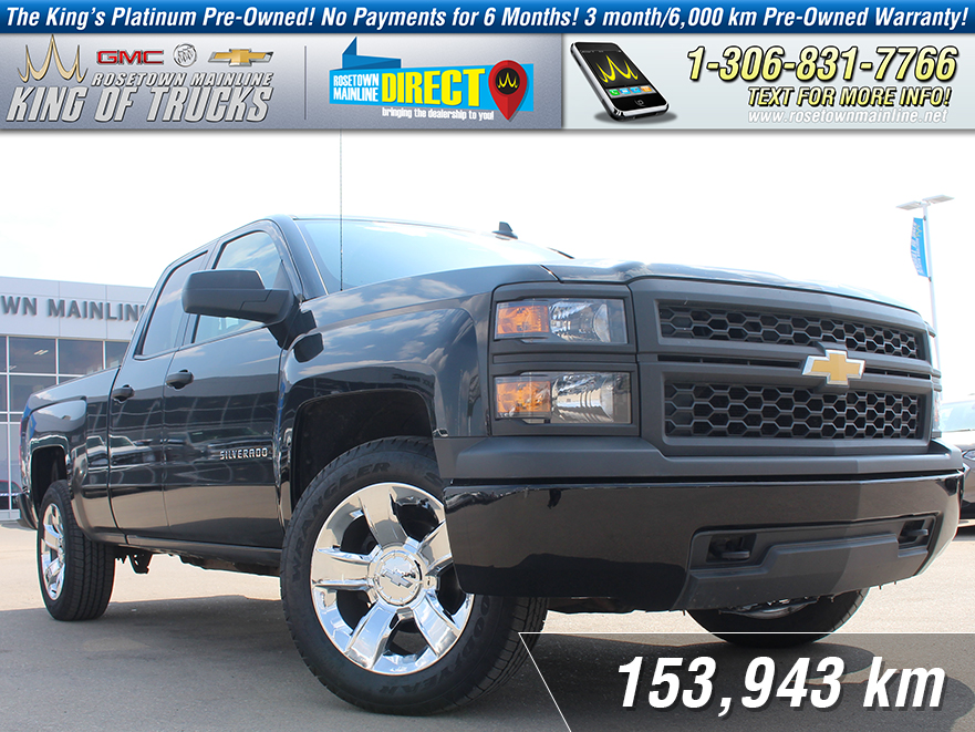 "Pre-Owned 2015 Chevrolet Silverado 1500 WT One Owner | New 20"" Rims & Tires"
