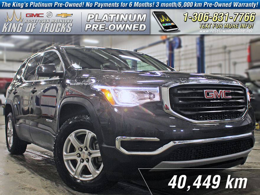 Pre-Owned 2017 GMC Acadia SLE One Owner | Low KM | Back-up Camera