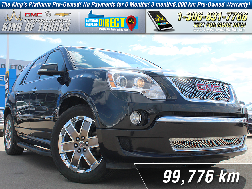 Pre-Owned 2012 GMC Acadia Denali Local | One Owner | Nav
