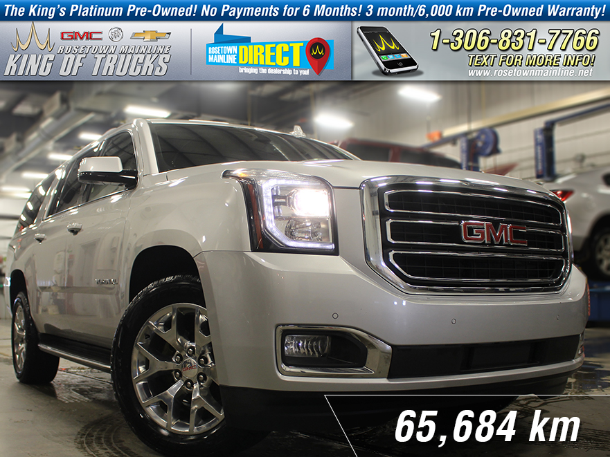 Pre-Owned 2017 GMC Yukon XL SLT Leather | DVD | 8-Passenger AWD