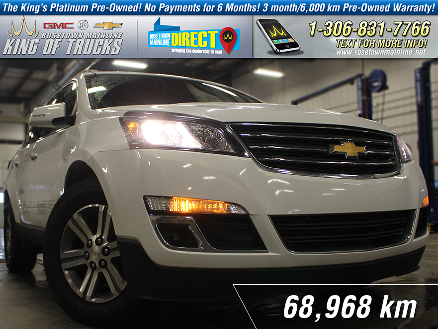 Pre-Owned 2016 Chevrolet Traverse LT w/2LT One Owner | Leather AWD