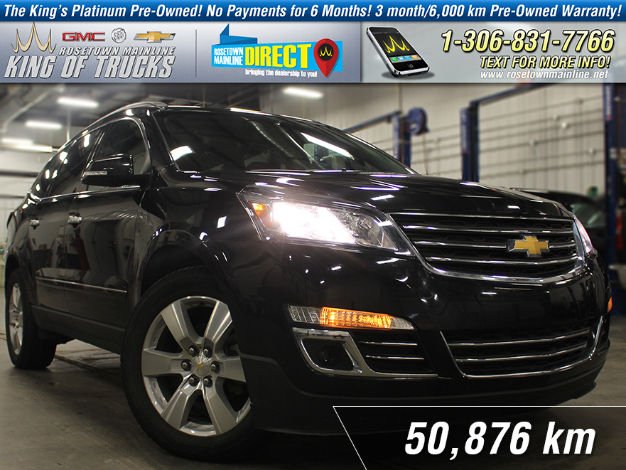 Pre-Owned 2015 Chevrolet Traverse LTZ One Owner | DVD | PST Paid AWD