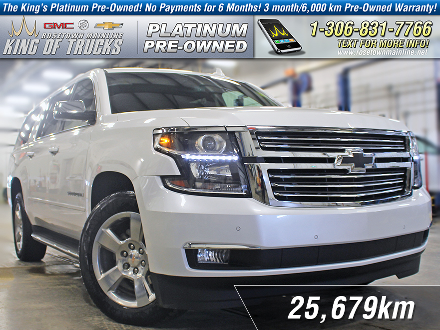 Pre-Owned 2017 Chevrolet Suburban Premier Local | One Owner | Dual DVD