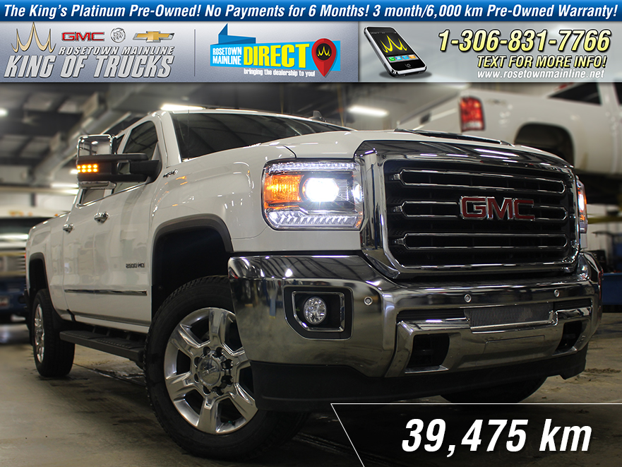 Pre-Owned 2017 GMC Sierra 2500HD SLT Leather | 6.6L | Low KM