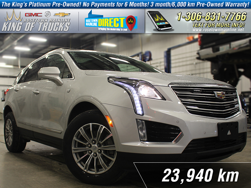 Pre-Owned 2017 Cadillac XT5 Luxury Leather | Sunroof | Low KM AWD