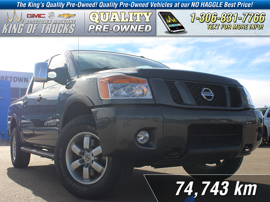 Pre-Owned 2012 Nissan Titan PRO-4X Leather | Sunroof | Low KM