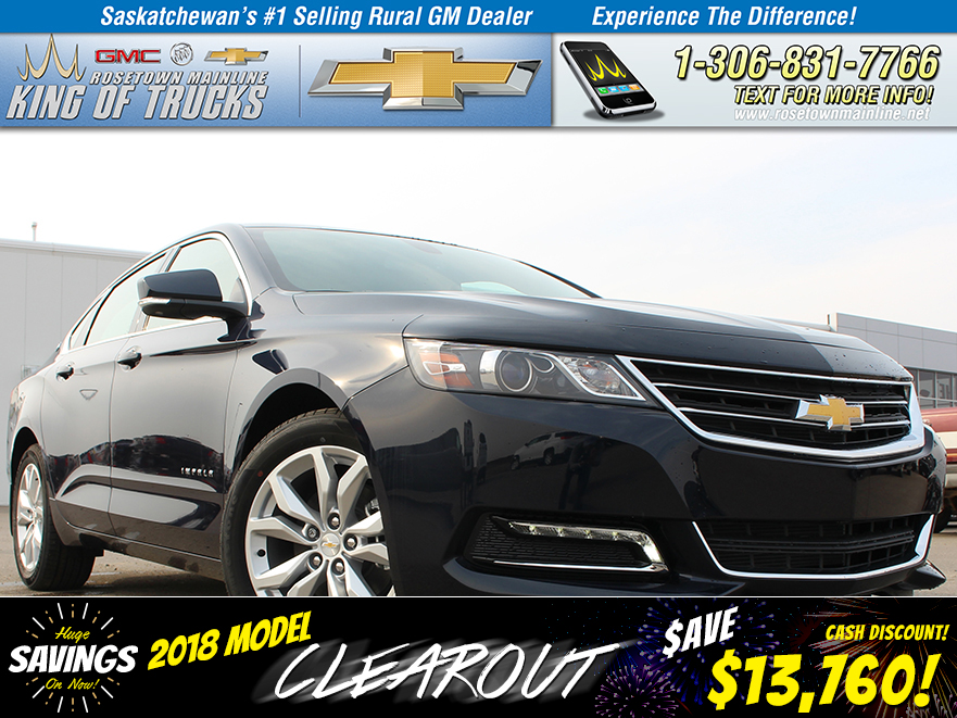 New 2018 Chevrolet Impala LT CLEAROUT PRICE!