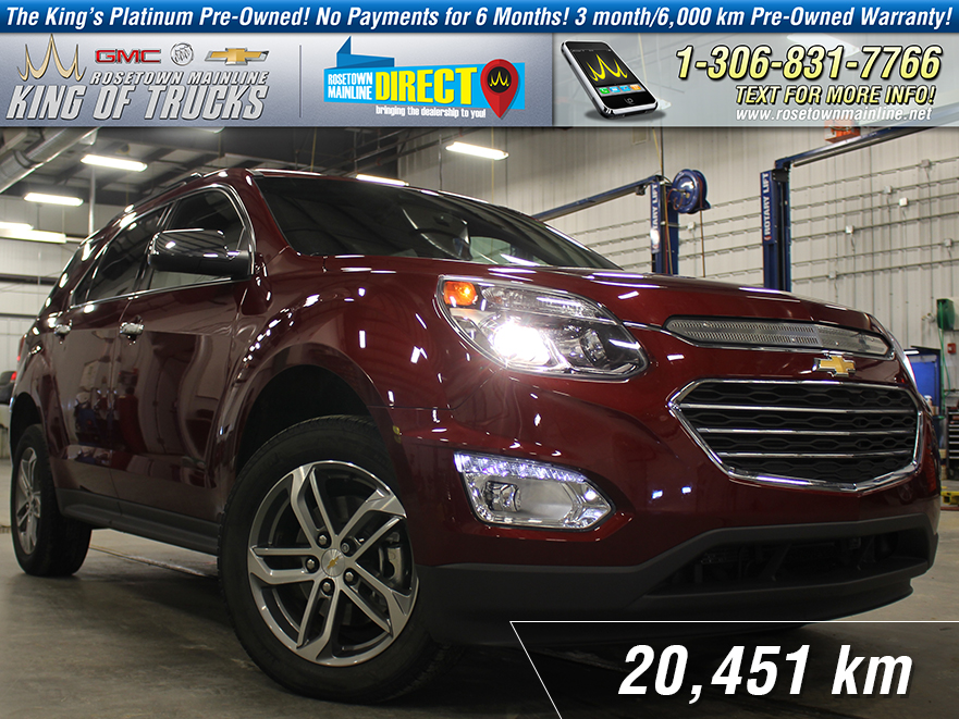 Pre-Owned 2017 Chevrolet Equinox Premier One Owner | Leather | PST Paid AWD