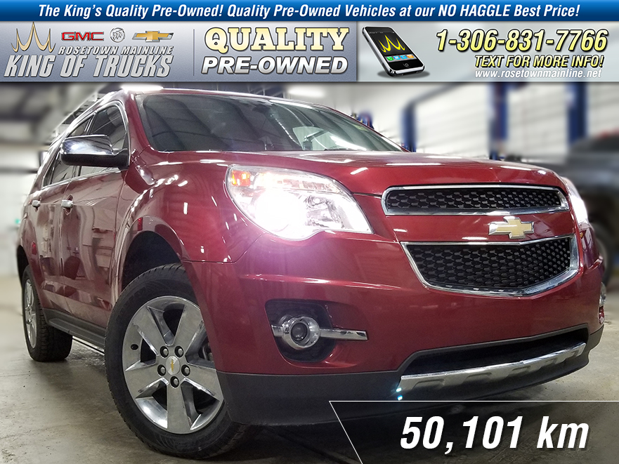 Pre-Owned 2013 Chevrolet Equinox LTZ Local | Leather | Sunroof | Nav