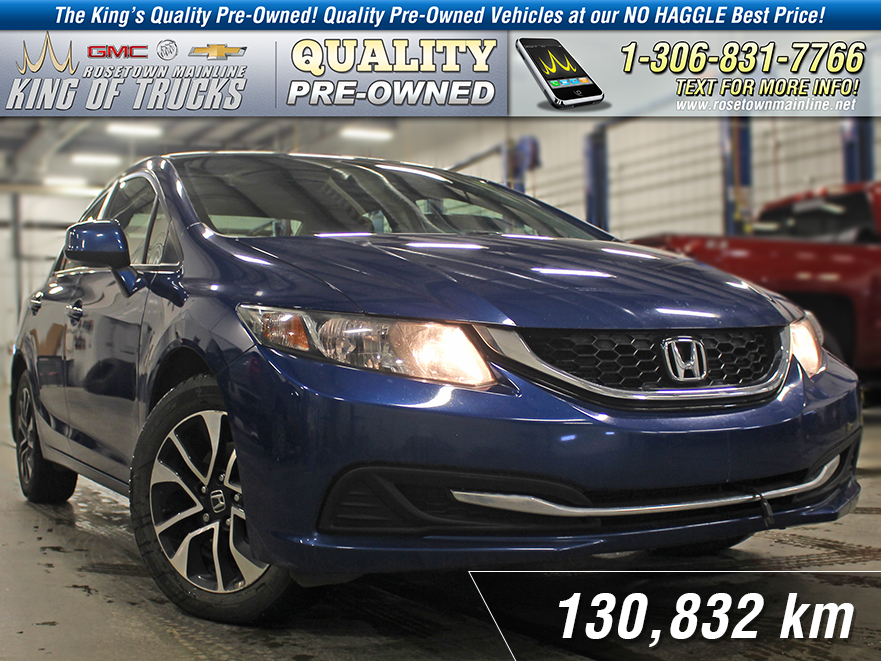 Pre-Owned 2013 Honda Civic Sdn EX Local | Sunroof | Excellent Tires