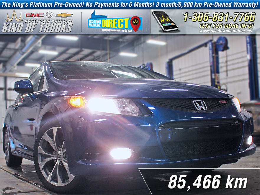 Pre-Owned 2012 Honda Civic Coupe Si 6-Speed Manual | Sunroof With Navigation