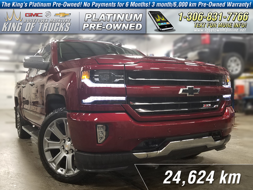 Pre-Owned 2018 Chevrolet Silverado 1500 LTZ One Owner | Leather | Sunroof