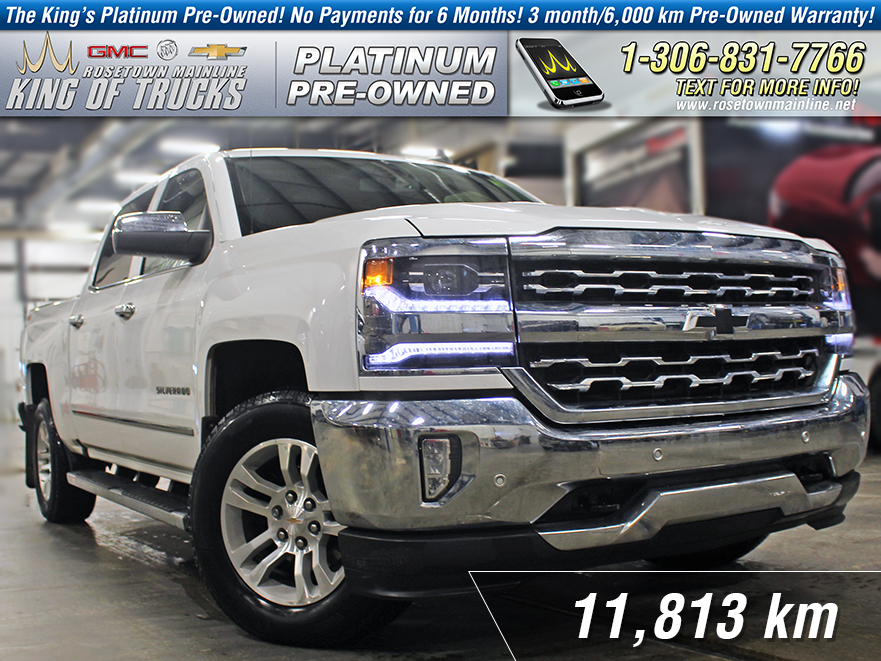 Pre-Owned 2018 Chevrolet Silverado 1500 LTZ One Owner | Leather | 6.2L