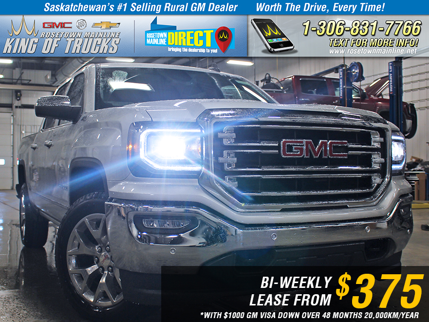 New 2018 GMC Sierra 1500 SLT LEASE FROM $375 BI-WEEKLY*