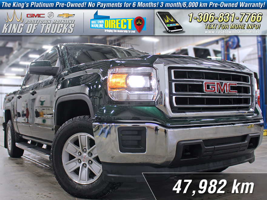 Pre-Owned 2015 GMC Sierra 1500 SLE One Owner | PST Paid | Low KM