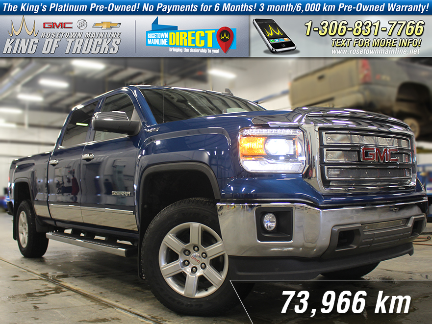 Pre-Owned 2015 GMC Sierra 1500 SLT Local | One Owner | PST Paid