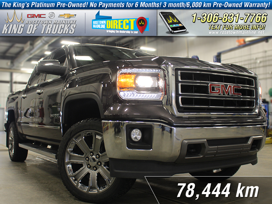 "Pre-Owned 2015 GMC Sierra 1500 SLT 6.2L | 22"" Wheels"