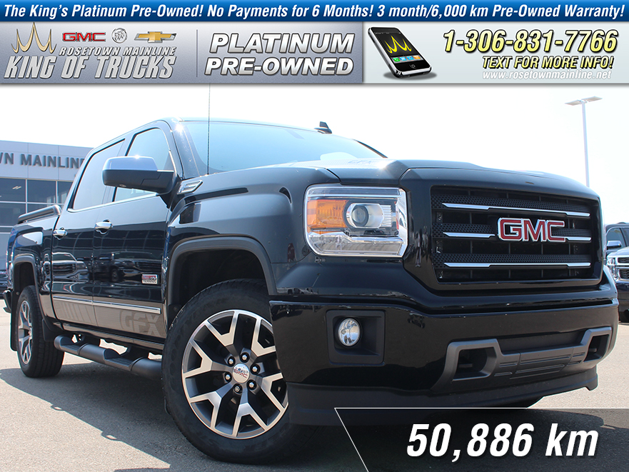 Pre-Owned 2015 GMC Sierra 1500 SLT GFX 6.2L | One Owner | Low KM