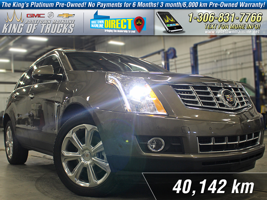 Pre-Owned 2016 Cadillac SRX Premium One Owner | Leather With Navigation & AWD