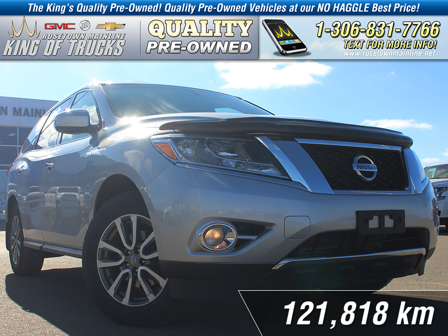 pre owned 2014 nissan pathfinder platinum local 7 passenger suv in rh rosetownmainline net