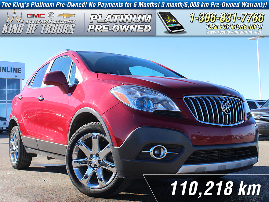 Pre-Owned 2013 Buick Encore Leather Local | One Owner | Heated Seats