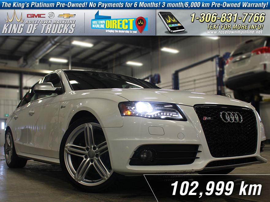 Pre-Owned 2012 Audi S4 Sunroof | Supercharged | Manual AWD