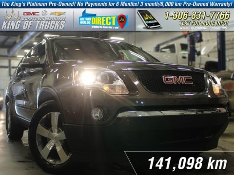 Pre-Owned 2012 GMC Acadia SLT Leather | DVD | PST Paid AWD