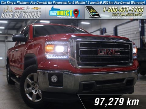 Pre-Owned 2015 GMC Sierra 1500 SLT Leather Bench | PST Paid